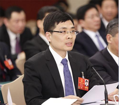 全国人大代表、海尔集团公司总裁 周云杰