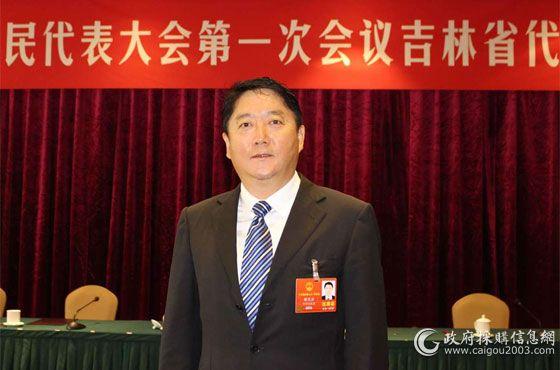 全国人大代表、吉林省财政厅厅长谢忠岩