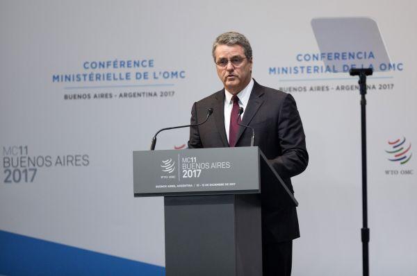 """阿泽维多:称WTO进入""""最难时刻"""""""