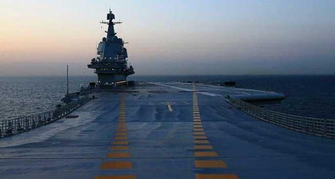 我国第二艘航母完成首次出海试验任务