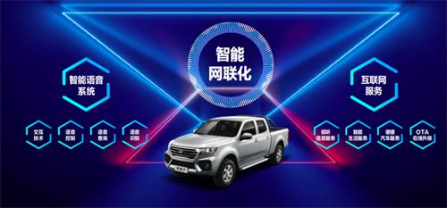 """风骏7有着诸多""""黑科技""""和全新升级的配置,是中国首款互联网皮卡.png"""