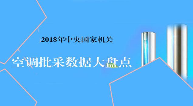 中央国家机关2018年空调批采数据大盘点