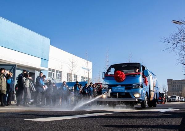 18款自主研发小型纯电动环卫车亮相北京