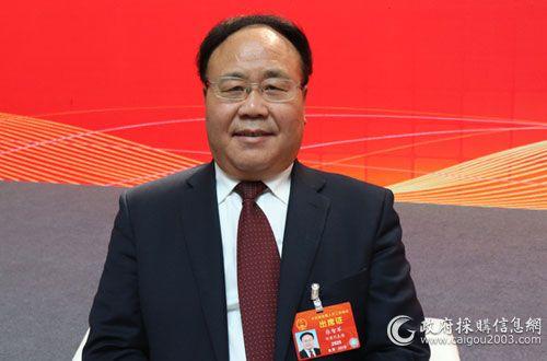 全國人大代表、甘肅省財政廳廳長張智軍