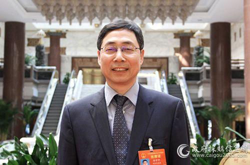 全国人大代表、浙江省财政厅厅长徐宇宁