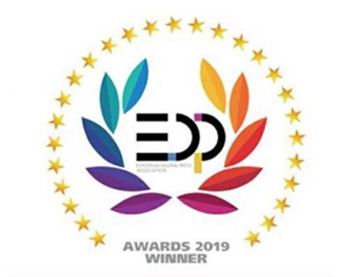 """""""2019欧洲数字印刷协会奖""""的最高荣誉——""""EDP单张纸数字印刷设备创新奖"""""""