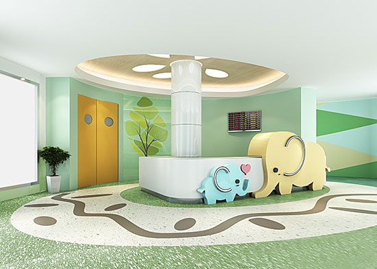 门诊儿科护士站