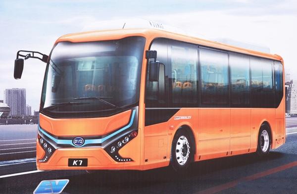 图:比亚迪8米纯电动客车K7-比亚迪武汉新能源基地正式开建高清图片